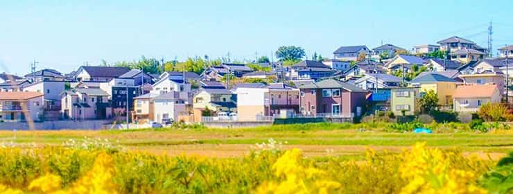 住宅街の長閑な風景